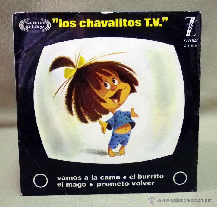 Discos de vinilo: DISCO DE VINILO, EP, LOS CHAVALITOS TV, VAMOS A LA CAMA Y OTROS, FAMILIA TELERIN, ZAFIRO, ZE 616 - Foto 2 - 49078637