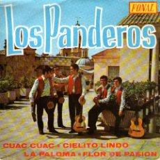 """Discos de vinilo: LOS PANDEROS - EP-SINGLE VINILO 7"""" - EDITADO EN ESPAÑA - CUAC CUAC + 3 - FONAL 1971.. Lote 49078668"""