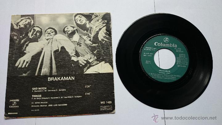 Discos de vinilo: BRAKAMAN - SAD WITCH / THINGS (1974) - Foto 2 - 49079540