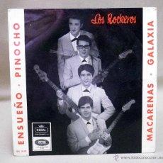 Discos de vinilo: DISCO DE VINILO, EP, LOS ROCKEROS, ENSUEÑO, PINOCHO Y OTROS, EMI, SEDL 19472, 1965. Lote 49079616
