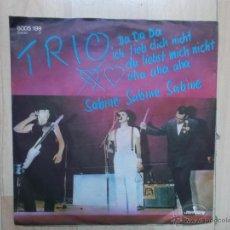 Discos de vinilo: TRIO DA DA DA - SABINE SABINE SABINE -MERCURY 1982 GERMANY. Lote 49080220