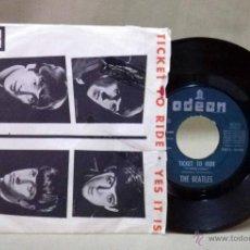 Discos de vinilo: SINGLE DE VINILO, THE BEATLES, TICKET TO RIDE, YES IT IS, PORTADA PAPEL, ODEON, DSOL 66064, 1965. Lote 49080804