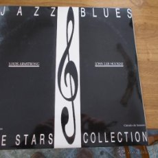 Discos de vinilo: JAZZ BLUES. THE STARS COLLECTION. LOUIS ARMSTRONG. JOHN LEE HOOKER.. Lote 49096024