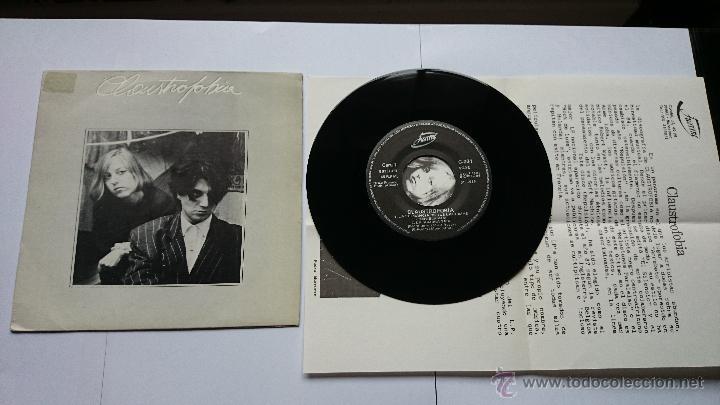 CLAUSTROFOBIA - LA ELEGANCIA DE TUS LAGRIMAS / CARLOVE / LA SOMBRA SABE / ALGO.. (PROMO 1988) (Música - Discos de Vinilo - EPs - Grupos Españoles de los 70 y 80)