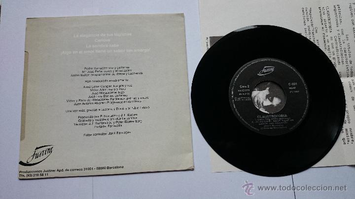 Discos de vinilo: CLAUSTROFOBIA - LA ELEGANCIA DE TUS LAGRIMAS / CARLOVE / LA SOMBRA SABE / ALGO.. (PROMO 1988) - Foto 2 - 49098557