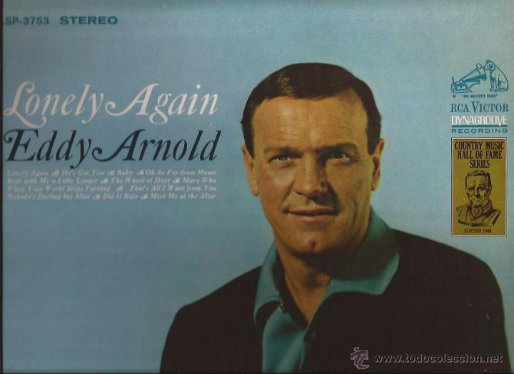 LP-EDDY ARNOLD LONELY AGAIN RCA 3753-USA 1967-COUNTRY (Música - Discos - LP Vinilo - Country y Folk)