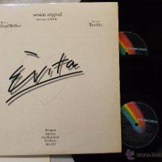 Discos de vinilo: EVITA VERSION ORIGINAL 2LP DOBLE VINILOS CON LIBRETO EXCELENTE MADE IN SPAIN 1977. Lote 49115545