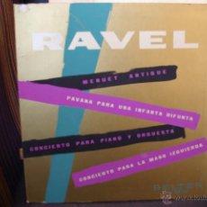 Discos de vinilo: RAVEL-CONCIERTO PARA PIANO Y ORQUESTA-BELTER VOX. Lote 49115880