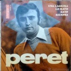 Discos de vinilo: PERET. UNA LÁGRIMA/ LO MATO/ GATO/ SIEMPRE. VERGARA, ESP. 1967 EP. Lote 49120476