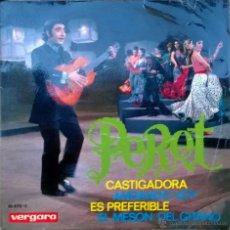 Discos de vinilo: PERET. CASTIGADORA/ ANDANDO VOY/ ES PREFERIBLE/ EL MESÓN DEL GITANO. VERGARA, ESP. 1969 EP. Lote 49120542