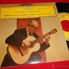 Discos de vinilo: ANDRES SEGOVIA TARREGA.RECUERDOS DE LA ALHAMBRA/MARIETA/MARIA +1 EP 1962 DEUTSCHE SPAIN GUITARRA. Lote 49124113