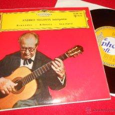Discos de vinilo: ANDRES SEGOVIA GRANADOS/ALBENIZ/SCARLATTI EP 1961 DEUTSCHE SPAIN ESPAÑA GUITARRA GUITAR CLASICA. Lote 49124140