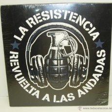 Dischi in vinile: LP VINILO LA RESISTENCIA - REVUELTA A LAS ANDADAS - EDICIÓN LIMITADA Y NUMERADA - PUNK. Lote 49135404