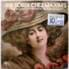 Discos de vinilo: ANDRE EKYAN ET SON ORCHESTRE - UNE SOIREE CHEZ MAXIM'S - LP 1973 BARCLAY BPY. Lote 49138466