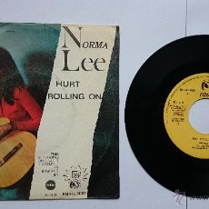 Discos de vinilo: NORMA LEE - HURT / ROLLING ON (1967). Lote 49138970