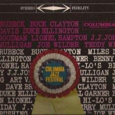 Discos de vinilo: LP-COLUMBIA JAZZ FESTIVAL-COLUMBIA JS 1-USA 1959-DAVE BRUBECK BUCK CLAYTON ELLINGTON GOODMAN-STEREO. Lote 49138999