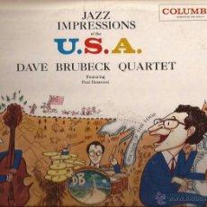 Discos de vinilo: LP-DAVE BRUBECK JAZZ IMPRESSIONS OF USA-COLUMBIA 984-USA 1957-SIX EYES LABEL. Lote 49139093