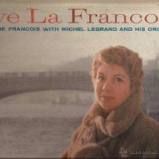 Discos de vinilo: LP-JACQUELINE FRANCOIS VIVE LA FRANCOIS-COLUMBIA 966-USA 195???-SIX EYES LABEL. Lote 49139115