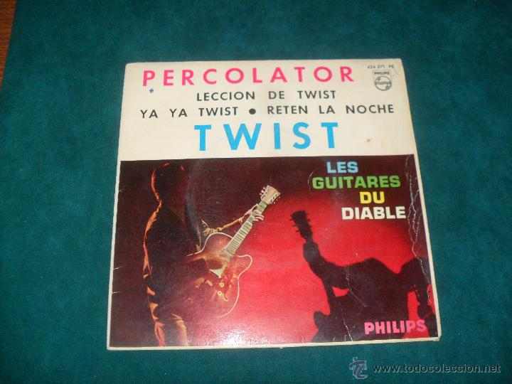 PERCOLATOR, TWIST. PHILIPS 1962. EP CON 4 TEMAS (Música - Discos de Vinilo - EPs - Rock & Roll)