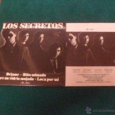 Disques de vinyle: LOS SECRETOS. POLYDOR 80`S, 1980. Lote 49147703