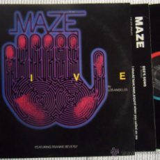 Discos de vinilo: MAZE FEATURING FRANKIE BEVERLY - '' LIVE IN LOS ANGELES '' 2 LP + INNER USA. Lote 49157902