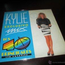 Discos de vinilo: KYLIE MINOGUE SINGLE PROMOCIONAL - ESPECIAL CADENA 40 - SPAIN 175 COPIES - ULTRA RARE. Lote 49159715