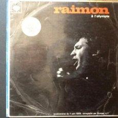 Discos de vinilo: RAIMON - A L'OLYMPIA (CBS, 1966) LP. Lote 49164164