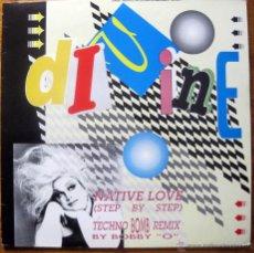 Discos de vinilo: DIVINE- NATIVE LOVE-TECHNO BOM REMIX. Lote 49164959