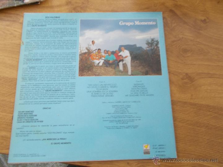 Discos de vinilo: GRUPO MOMENTO. DOS PALOMAS. GRUPO DE ELDA Y PETRER. - Foto 2 - 49167001