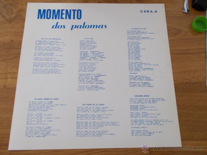Discos de vinilo: GRUPO MOMENTO. DOS PALOMAS. GRUPO DE ELDA Y PETRER. - Foto 8 - 49167001