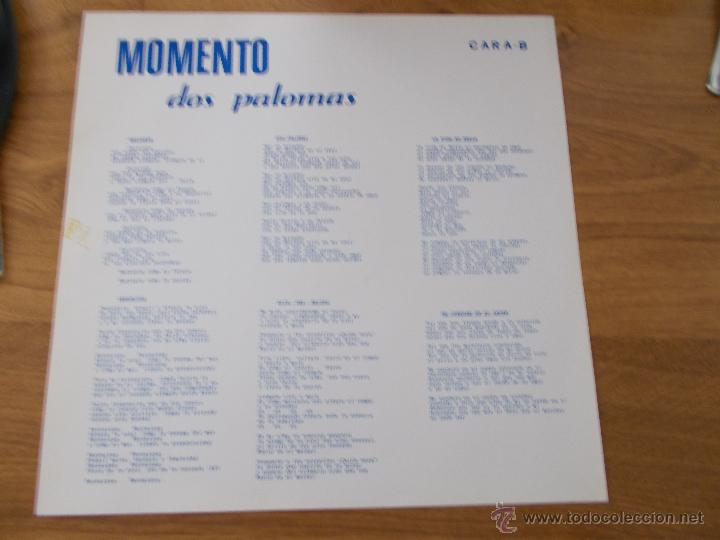 Discos de vinilo: GRUPO MOMENTO. DOS PALOMAS. GRUPO DE ELDA Y PETRER. - Foto 9 - 49167001
