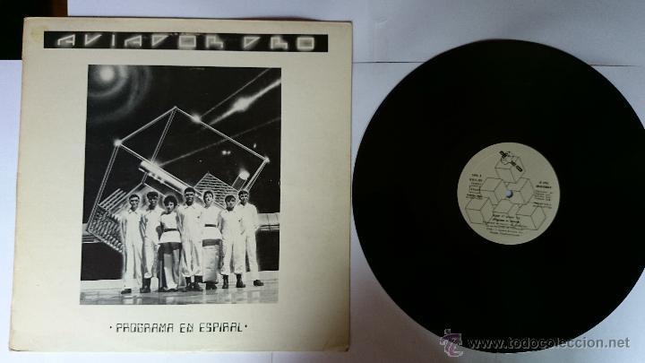 AVIADOR DRO - PROGRAMA EN ESPIRAL / LA PERSECUCION / TELEPATIA / EL ULTIMO ASALTO... (1982) (Música - Discos de Vinilo - Maxi Singles - Grupos Españoles de los 70 y 80)