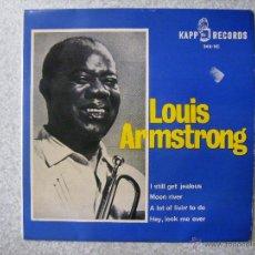 Discos de vinilo: LOUIS ARMSTRONG.I STILL GET JEALOUS + 3. Lote 49168146