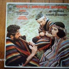 Discos de vinilo: LOS CALCHAKIS Y ALFREDO DE ROBERTIS - TOUTE L´AMERIQUE INDIENNE . Lote 49175731