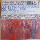 Discos de vinilo: LP - ANTOLOGIA HISTORICA DE LA MUSICA CATALANA - POLIFONIA CONCERTANT DEL SEGLE XVIII. Lote 49180178