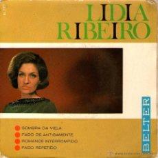 Discos de vinilo: LIDIA RIBEIRO - EP SINGLE VINILO 7'' - EDITADO EN ESPAÑA - SOMBRA DA VIELA + 3 - BELTER 1967. Lote 49184438