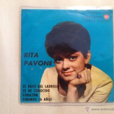 Discos de vinilo: RITA PAVONE - EP ESPAÑA 1963. Lote 49196109