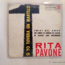 Discos de vinilo: RITA PAVONE - EP ESPAÑA 1964. Lote 49196128