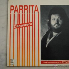 Discos de vinilo: PARRITA. CANASTERO. HORUS 1990. CON KITFLUS, BENAVENT, AMARGÓS. LP. Lote 49196392