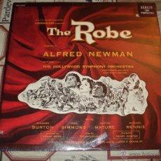 Discos de vinilo: LA TUNICA SAGRADA -THE ROBE-LP BANDA SONORA ORIGINAL MUSICA ALFRFED NEWMAN. Lote 49196663