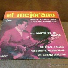 Discos de vinilo: DISCO:EL MEJORANO -EL SANTO DE MI MARE Y 3 CANCIONES MÁS AÑO 1.961. Lote 49203016