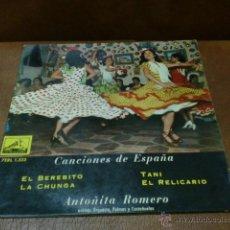 Discos de vinilo: DISCO: CANCIONES DE ESPAÑA EL BEREBITO Y 3 CANCIONES MAS- AÑO 1959. Lote 49203255
