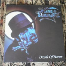 Discos de vinilo: KING DIAMOND. DECADE OF HORROR. 4 PICTURE VINYLS LP BOX.. Lote 49206356