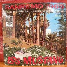 Discos de vinilo: LOS MUSTANG - FESTIVAL SANREMO 1965 / REGAL 1965. Lote 49208593