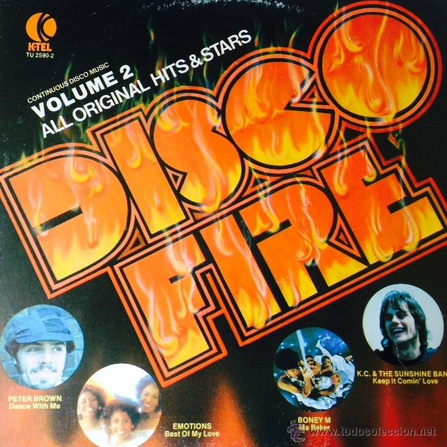 DISCO FIRE (VOLUME 2) - LP . 1979 K-TEL USA - TU 2590-2 . TRAMPPS . DAZZ . EMOTIONS . PETER BROWN . (Música - Discos - LP Vinilo - Disco y Dance)