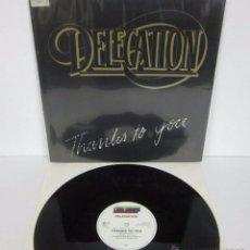 Discos de vinilo: DELEGATION - THANKS TO YOU - MX - HIGH FASHION 1985 GERMANY. Lote 49214470