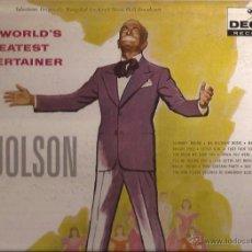Discos de vinilo: LP-AL JOLSON THE WORLD´S GREATEST ENTERTAINER DECCA 9074-USA 1959. Lote 49219013