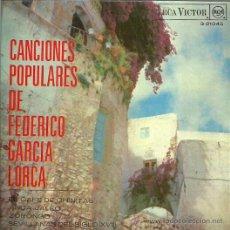 Discos de vinilo: GRUPO FOLKLORICO ESPAÑOL EP SELLO RCA VICTOR AÑO 1968 CANCIONES DE FEDERICO GARCIA LORCA. Lote 49219837
