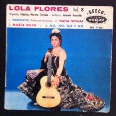 Discos de vinilo: LOLA FLORES - EDICIÓN FRANCESA - SEECO VOGUE - TORCUATA, NANA GITANA. Lote 49229348