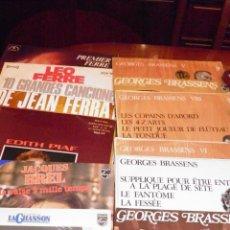 Discos de vinilo: FRANCESES,G.BRASSENS,6 LP,BRELL 3 LP,PIAFF 1,FERRAT 1,LEO FERRE 2,...AÑOS 60-70...13 TOTAL. Lote 49229399